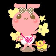 สติ๊กเกอร์ไลน์ yurutto momo-chan