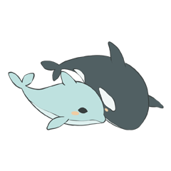 Orca and Dolphin