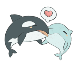 Orca and Dolphin sticker #2409938