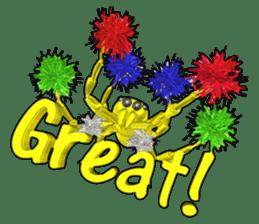 KUMONOSUKE of a golden spider sticker #2418945