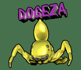 KUMONOSUKE of a golden spider sticker #2418947