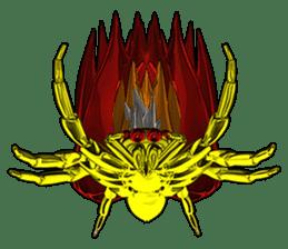 KUMONOSUKE of a golden spider sticker #2418949