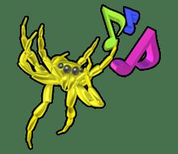 KUMONOSUKE of a golden spider sticker #2418951