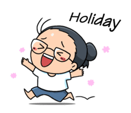 """FASTBEAM """" Happy or Lonely Holiday? """" sticker #2439016"""