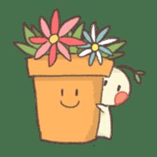 Me and flowerpot sticker #2448317