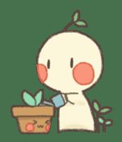 Me and flowerpot sticker #2448320
