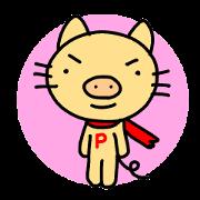 สติ๊กเกอร์ไลน์ P-nyan's Sticker