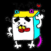 สติ๊กเกอร์ไลน์ Square eyebrows cat Sticker
