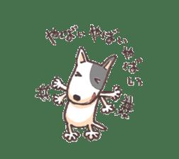 Bull terrier(DAIFUKU) sticker #2450646