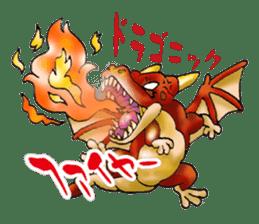 Baby dragon & Little hero sticker #2454530