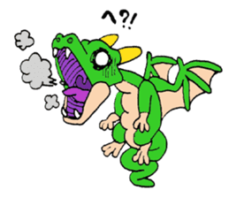 Baby dragon & Little hero sticker #2454533