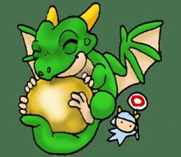 Baby dragon & Little hero sticker #2454534