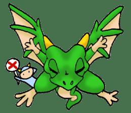 Baby dragon & Little hero sticker #2454535