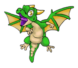 Baby dragon & Little hero sticker #2454539