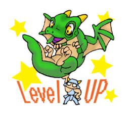 Baby dragon & Little hero sticker #2454542