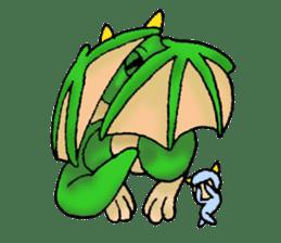 Baby dragon & Little hero sticker #2454552