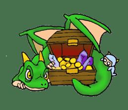 Baby dragon & Little hero sticker #2454554