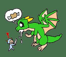 Baby dragon & Little hero sticker #2454555