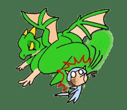 Baby dragon & Little hero sticker #2454562