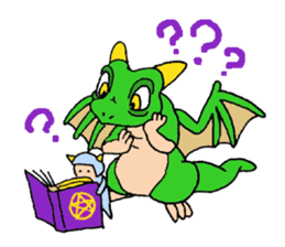 Baby dragon & Little hero sticker #2454565