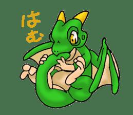 Baby dragon & Little hero sticker #2454566