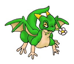 Baby dragon & Little hero sticker #2454567