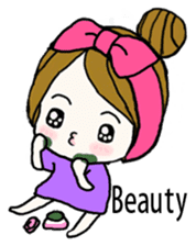 Present girl's short sentences (English) sticker #2458509