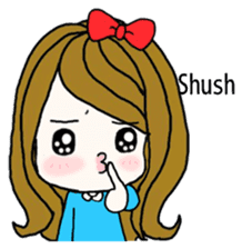Present girl's short sentences (English) sticker #2458527