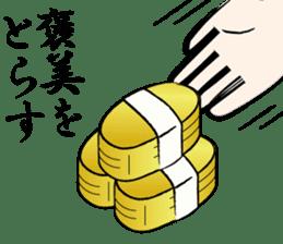 funny samurai Sticker sticker #2461478