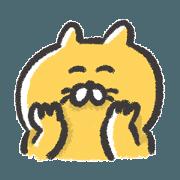 สติ๊กเกอร์ไลน์ Cheerful yellow cat