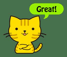 Cute cat[English ver.] sticker #2469569