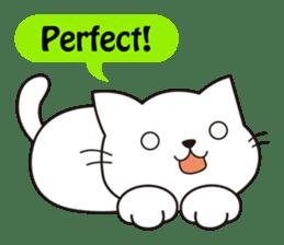 Cute cat[English ver.] sticker #2469570