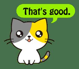 Cute cat[English ver.] sticker #2469571