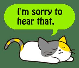 Cute cat[English ver.] sticker #2469578