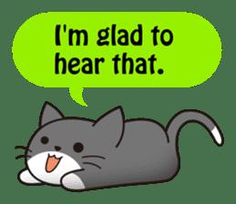 Cute cat[English ver.] sticker #2469596