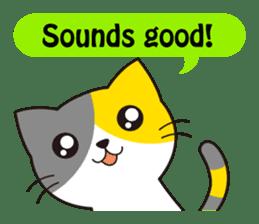Cute cat[English ver.] sticker #2469599