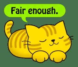 Cute cat[English ver.] sticker #2469601
