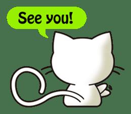Cute cat[English ver.] sticker #2469607