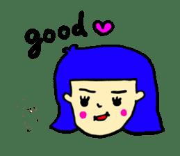 Hair Color Girl sticker #2488319