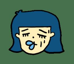 Hair Color Girl sticker #2488338