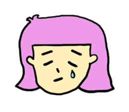 Hair Color Girl sticker #2488339
