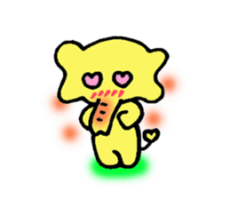 Kawaii Yellow Elephant sticker #2488432