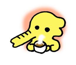 Kawaii Yellow Elephant sticker #2488435