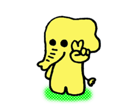 Kawaii Yellow Elephant sticker #2488448