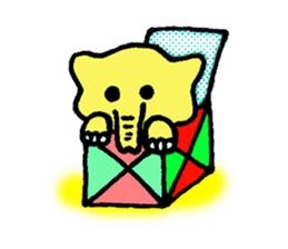Kawaii Yellow Elephant sticker #2488451