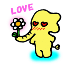 Kawaii Yellow Elephant sticker #2488457