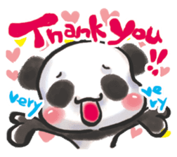 The soliloquy of a panda for English sticker #2489101