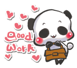 The soliloquy of a panda for English sticker #2489102