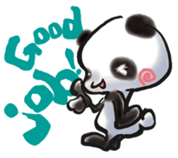 The soliloquy of a panda for English sticker #2489104