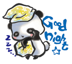 The soliloquy of a panda for English sticker #2489107